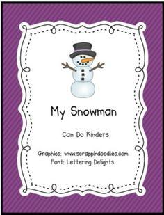 My Snowman Emergent Reader - Can Do Kinders - TeachersPayTeachers.com
