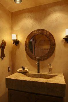 Modern masters walls on pinterest metallic paint for Venetian plaster bathroom ideas