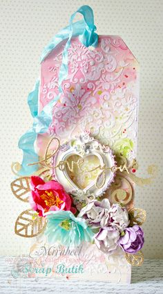 love you - Scrapbook.com - Made with Prima products.