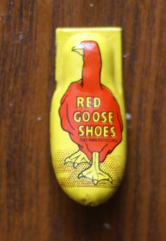 Red Goose Shoes tin clicker toy