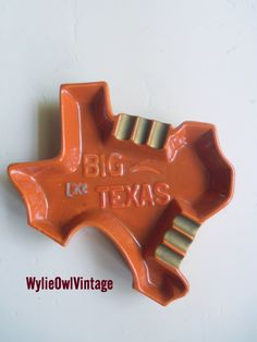 Vintage BIG Like Texas Ceramic Ashtray Made in by WylieOwlVintage, $14.00