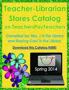 Teacher-Librarian TpT stores catalog FREE! Check out this catalog to find media specialist and teacher librarian stores on TpT.  Tons of items out there!