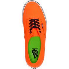 Vans Authentic Neon Orange & Green Shoe at Zumiez : PDP