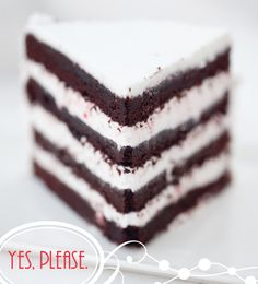 Dark Chocolate Peppermint Cake with White Chocolate Candy Cane Ganache