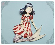 Articulated Mermaid Paper Doll