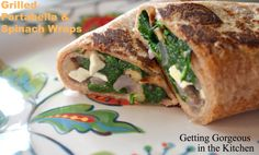 Grilled Portabella and Spinach Wraps! http://www.momgenerations.com/2014/09/grilled-portabella-spinach-wraps-getting-gorgeous-in-the-kitchen/ #Recipes #Food