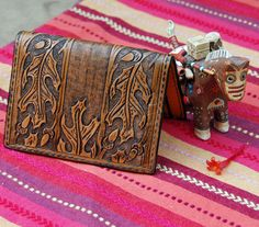 hand tooled leather wallet www.etsy.com/shop/leathersmith #tooled #wallet #billfold