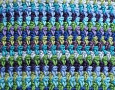 hdc ch 1; simple pattern, looks woven