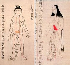 Map of the human body from Edo-period Japan, 1603-1868