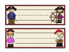 pirate name tags for desks