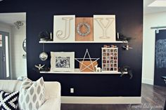 DIY wall shelves and