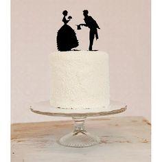 Cute #silhouette #wedding #cake #topper