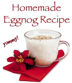 Homemade Eggnog Recipe! #Christmas #recipes