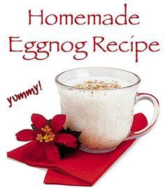 Homemade Eggnog Recipe! #Christmas #recipes