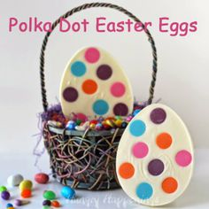 Polka Dot Candy Easter Eggs by Hungry Happenings