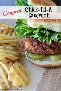 The best Chick-Fil-A Copycat Sandwich!!
