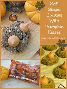 An easy recipe for a soft ginger cookie that's wonderful by itself or extra special with Pumpkin Spice Hershey Kisses