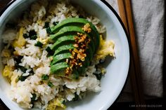 green bean avocado fried rice