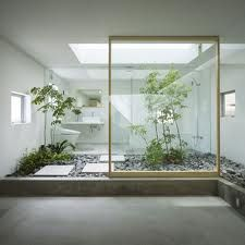 plant, interior design, modern bathroom, interiors, bathrooms, bathroom designs, japanese gardens, inside garden, garden houses