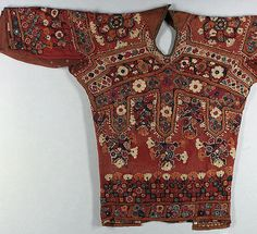Bodice, 19th century Geography: India Culture: Islamic Medium: Cotton, mirrors Dimensions: 16 in. high 30.00 in. wide (40.6 cm high 76.2 cm wide) - Art Object | The Metropolitan Museum Mobile