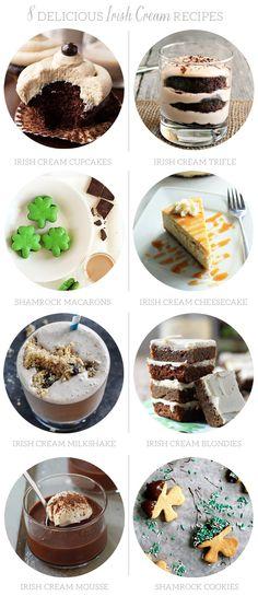 8 Delicious Irish Cream Recipes | The Sweetest Occasion