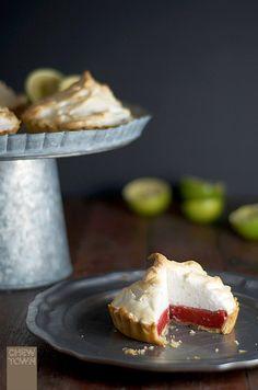 Raspberry & Lime Fluff Meringue Pie