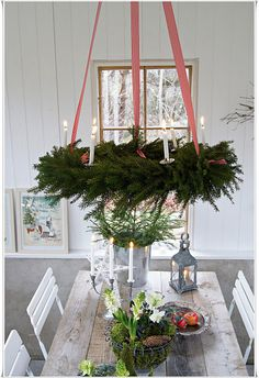 Hanging wreath.