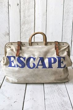 1950's ESCAPE Canvas Bag by forestbound #Bag #Escape