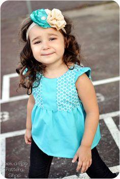Hopscotch Top, Tunic, and Dress: Girls Dress PDF Pattern, Baby & Toddler Dress PDF Pattern, Tunic Pattern, Top Pattern. $7.95, via Etsy.