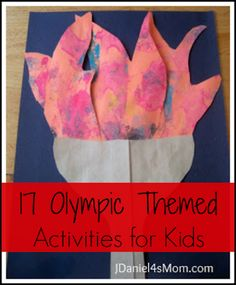 17 Olympic Themed Activities for Kids idea, craft, olymp theme, activities for kids, olymp torch, paint project, jdaniel4 mom, painting projects, theme activ