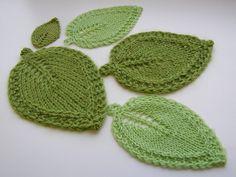 Cool leafy dishcloth