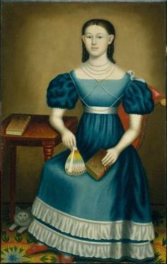 Margaret Gilmore about 1845 Erastus Salisbury Field, American, 1805–1900 Dimensions 137.48 x 86.68 cm (54 1/8 x 34 1/8 in.) Medium or Technique Oil on canvas Classification Paintings Accession Number 64.451 Not on view