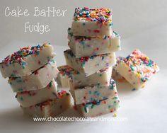 cake batter fudge, yellow cake, cakes, food, white chocolate, yummi, recip, cake mix, dessert