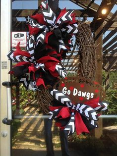 Game Day Wreath, Grapevine Wreath, Football Wreath