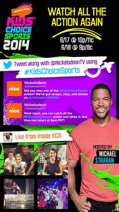 Nickelodeon promoted the Kids' Choice Sports awarts by embedding the latest tweets with #kidschoicesports into this email. #emailmarketing #socialmedia #realtime