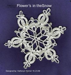 Free Crochet Flower in the Snow Snowflake Pattern