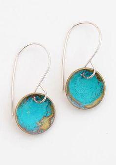 Blue Dome Earrings