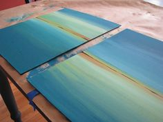 DIY Canvas Art. these are sooo gorgeous & diy !