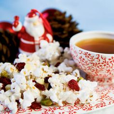 Holiday Candy Popcorn Recipe with Cranberries, Pistachios and White Chocolate Chips holiday, food recip, farm flavor, christma cooki, christmas recipes, dessert recipes, farms, christma candi, christma recip