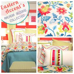 "Eastern Accents | Suites at Market Square G1000, The ""Arcadia Bedding Collection"" is so fresh and fun! Perfect for a kids or guest bedroom. #HPMKT"