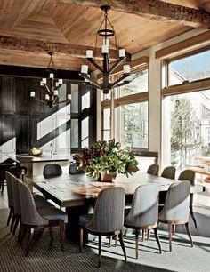 Un hermoso comedor moderno puede aportar mucho al diseño de interiores de una casa de estilo.