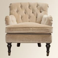 Jardin Chair - Arhaus. 2 upstairs in a blue grey velvet.