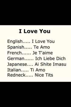 I love you multilingual