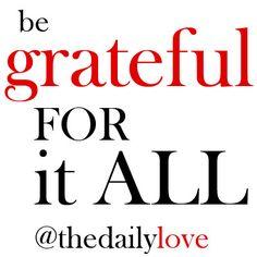 be grateful for it all! #TDL
