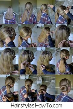 Dutch Braid & a 4 Strand Slide Up into a Bun Tutorial