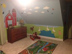 Farm themed boys bedroom