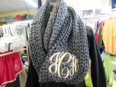 Infinity Scarf  Monogram Font Shown MASTER CIRCLE