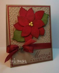 holiday, christma card, stamp, poinsettia card, french foliag