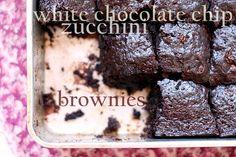 White Chocolate Zucchini Brownies