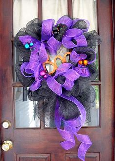 Purple witches wreath